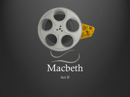 Macbeth Act II