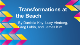 Transformations at the Beach - River Dell Regional School District