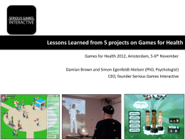 games-for-health-amsterdam - Simon Egenfeldt