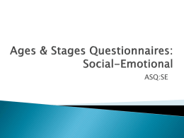 Ages & Stages Questionnaires: Social