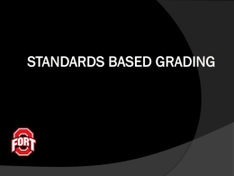Standards Based Grading - Online Effectiveness Management