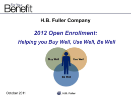 Employee Meeting Presentation (PPT) - HB Fuller