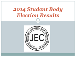 2014 Student Body Election Results