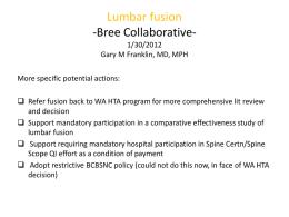 Lumbar Fusion PPT by Dr. Gary Franklin