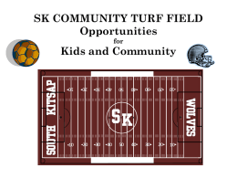 TURF FIELD AT SKHS FOR KIDS - South Kitsap School District