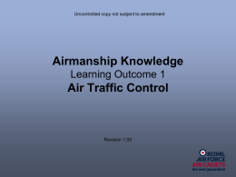 Airmanship Knowlege - LO1 Air Traffic Control