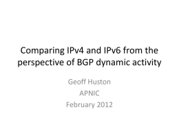 Comparing IPv4 and IPv6 from the perspective of BGP - Labs