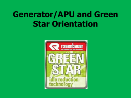 Generator/APU and Green Star.ppt