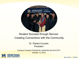 Student Success through Service