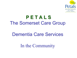 P E T A L S - Dementia Partnerships
