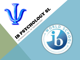 IB PSYCHOLOGY SL - firestone falcons