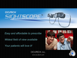SightScope Prescriber Webinar