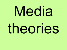 media theories ppt