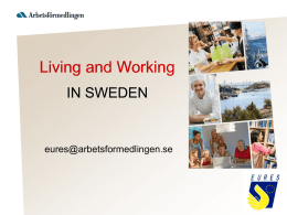 Working in Sweden - Sistema Piemonte