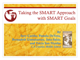 Taking the SMART Approach with SMART Goals