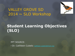VGSD SLO PowerPoint - Rocky Grove High School