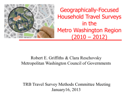 Griffiths, R E & C Reschovsky: Geographically