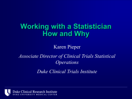 Issues that Arise for Statisticians while working with Fellows