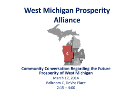 West Michigan Regional Prosperity Alliance