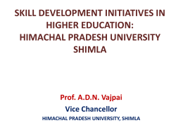 skill development initiatives in higher education