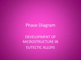 Development of Microstructure in Eutectic Alloys