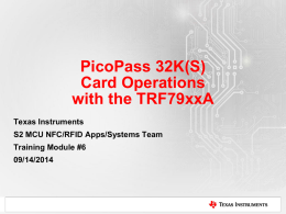 5001.TRF79xxA Operations with PicoPass 32K(S) transponders