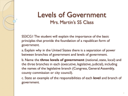 Levels of Government - Polk School District
