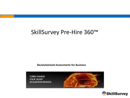 Skill Survey Professional References - Banking (PPT)