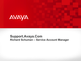 Opening a Services Request at Avaya Support