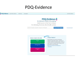 What is PDQ-Evidence