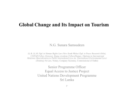 Global Change and Its Impact on Tour*sm
