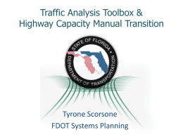 Traffic Analysis Toolbox &