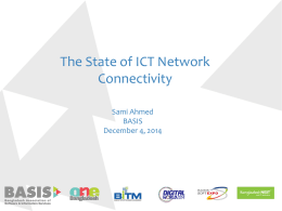 The State of ICT Network Connectivity (Sami - E