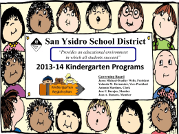 Slide 1 - San Ysidro School District