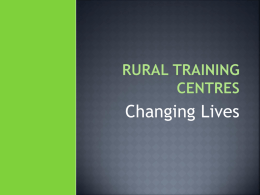 Rural Training Centres
