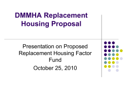 MHA Housing Policies and Principles in Power Point format