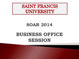 Business Office - Saint Francis University