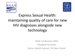 SSHA Conference 2014 - Society of Sexual Health Advisers
