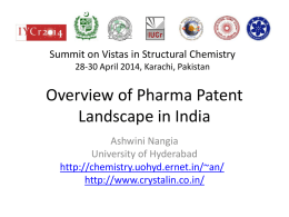 Overview of Pharma Patent Landscape in India