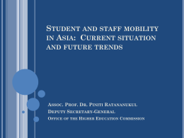 Student and staff mobility in Asia: Current situation and future trends