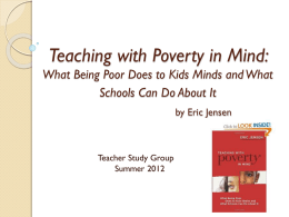 Teaching with Poverty in Mind: What Being Poor Does to Kids Minds