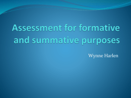 HARLEN - Assessment for formative and summative purposes