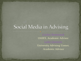 Use of Social Media in Advising
