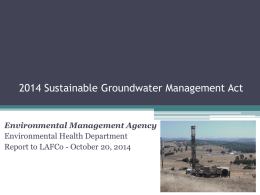 2014 Sustainable Groundwater Management Act