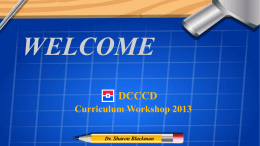Dr. Sharon L. Blackman`s 2013 Curriculum Workshop Powerpoint