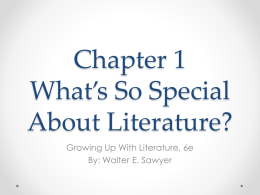 Chapter 1 What*s So Special About Literature?