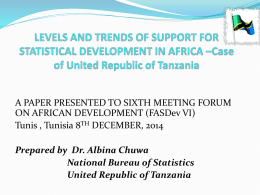 Levels and Trends of Support for Statistical Development in Africa