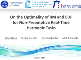 On the Optimality of RM and EDF for Non-Preemptive