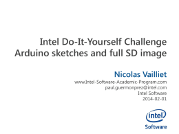 PPTX - Intel Software Academic Program