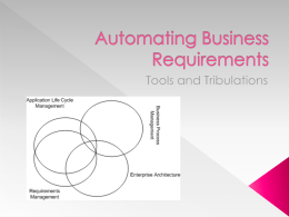 Automating Business Requirements